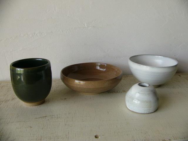 作品例。釉薬は3色から選べます。