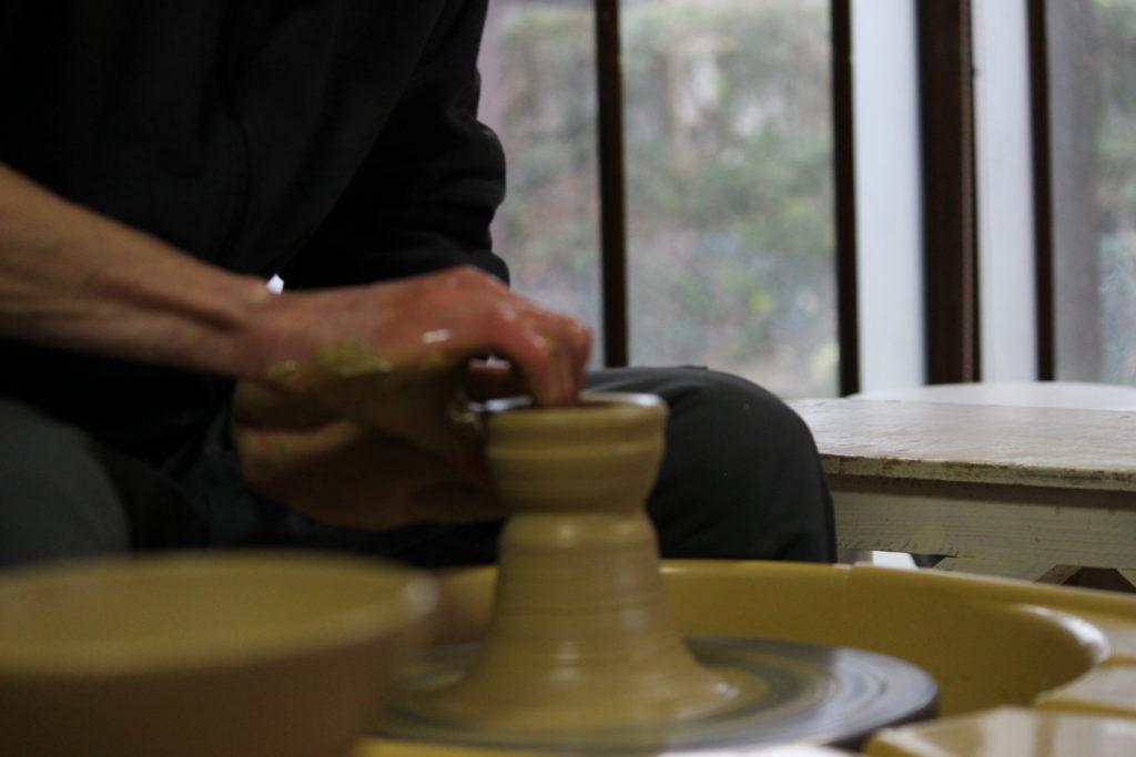 ろくろの体験陶芸